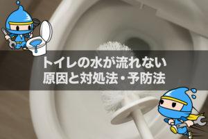 トイレの水が流れない原因と対処法・予防法