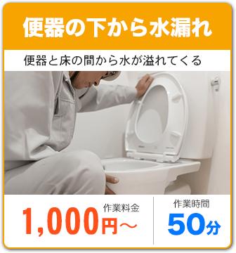 トイレの下から水漏れ