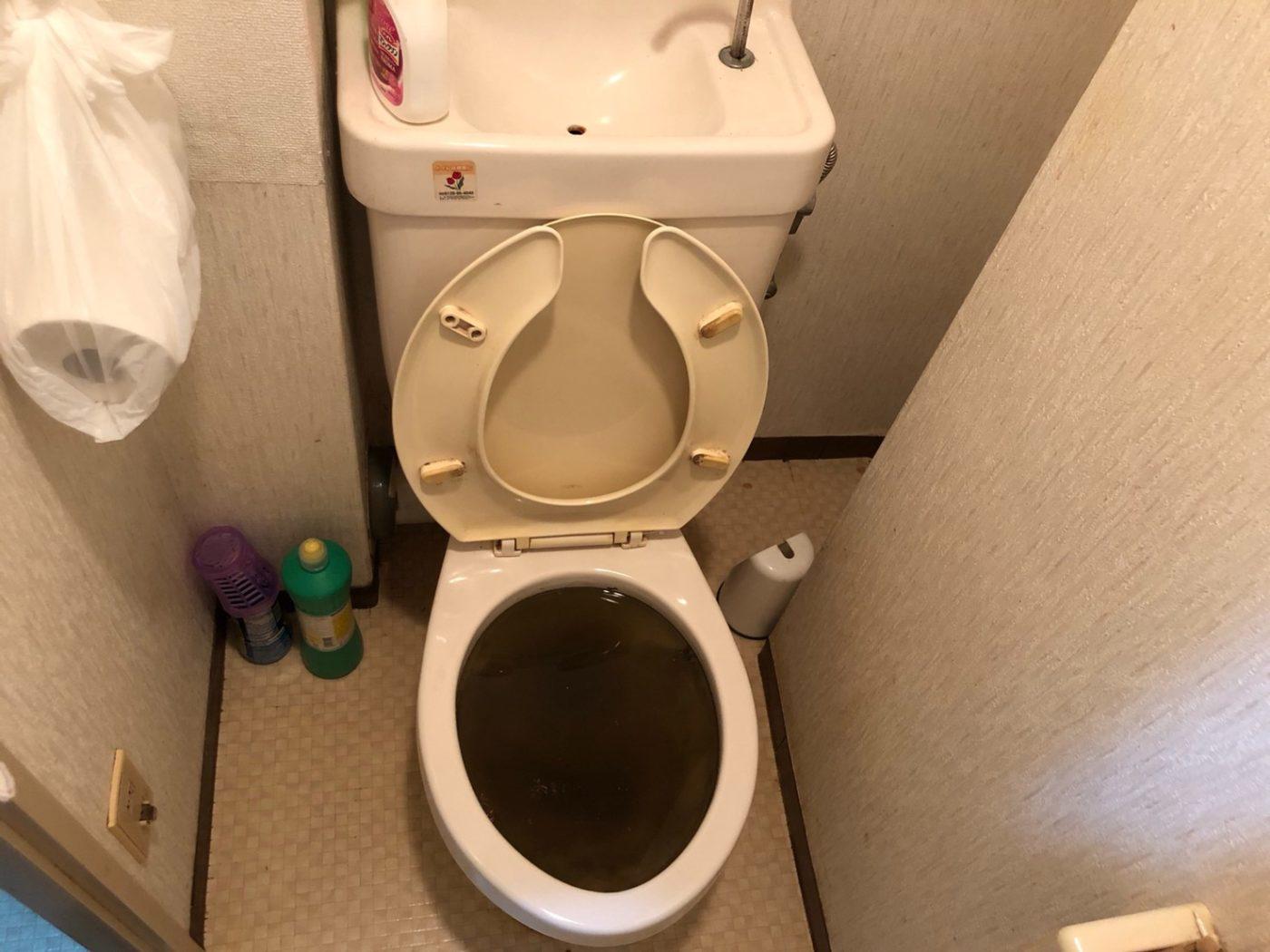 トイレつまり修理事例・汚水の逆流