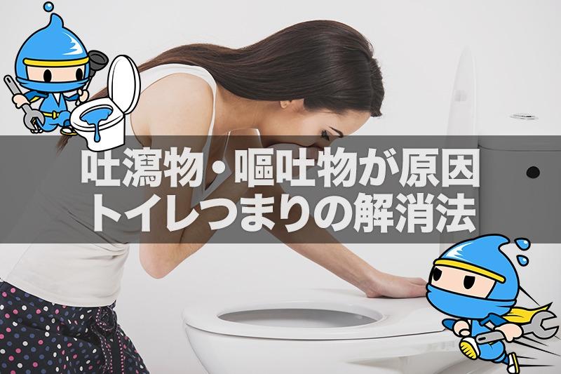 吐瀉物・嘔吐物が原因のトイレつまりの解消法